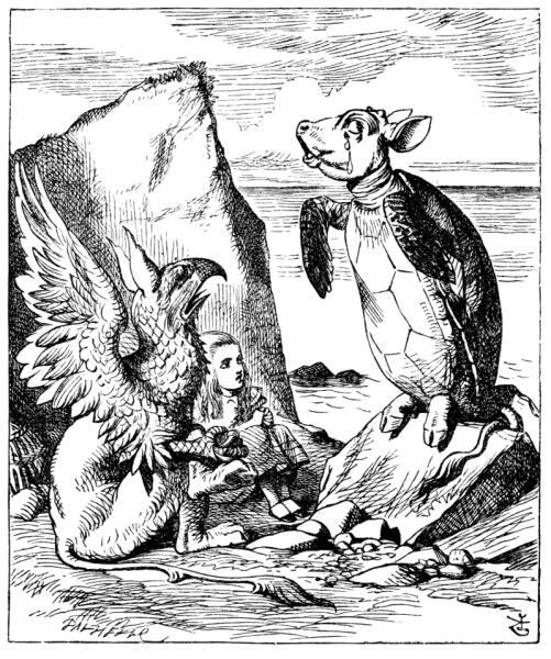 Грифон и Алиса слушают Черепаху Квази