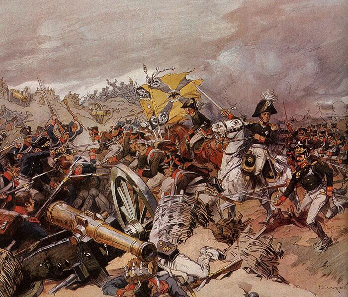Н. Самокиш, «Атака Шевардинского редута», 1910г.