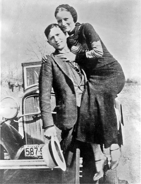 Бонни и Клайд в марте 1933 г.