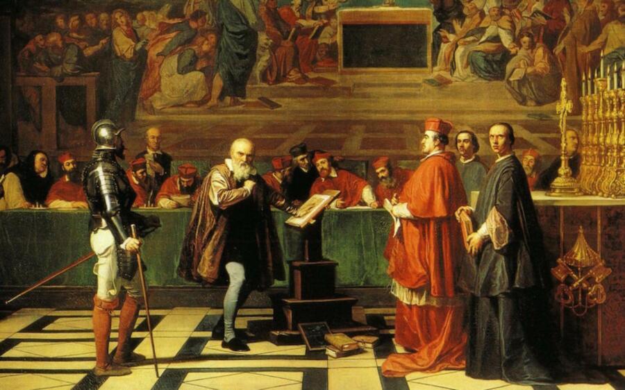 Жозеф-Николя Робер-Флёри, «Галилей перед судом инквизиции», 1847 г., Лувр