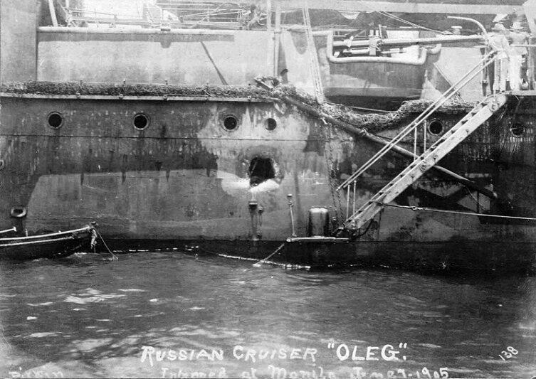 Крейсер I ранга «Олег» после Цусимского боя