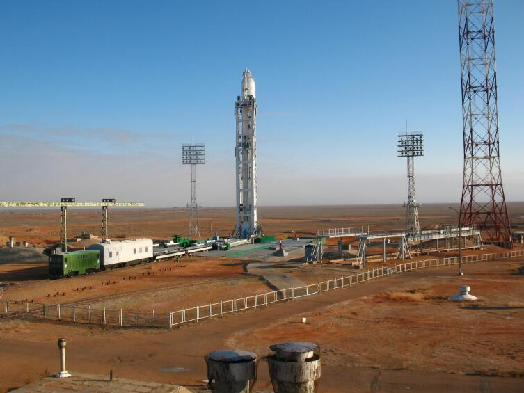 Запуск ракеты на Байконуре
