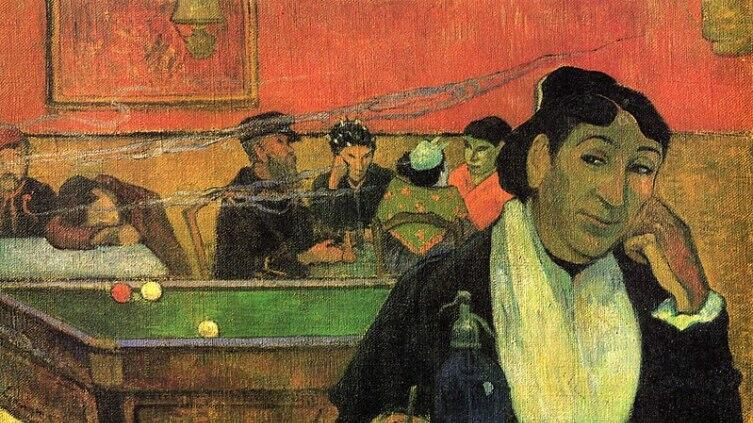 Поль Гоген, «Кафе в Арле», 1888 г.