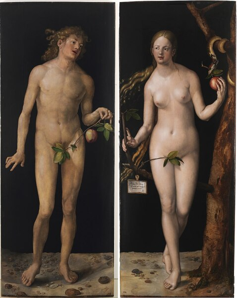 «Адам и Ева», диптих работы Дюрера