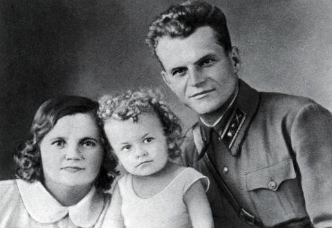 Иван Криклий с семьей
