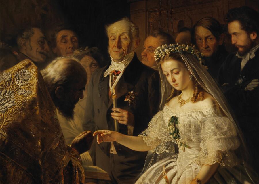 В. Пукирев, «Неравный брак»