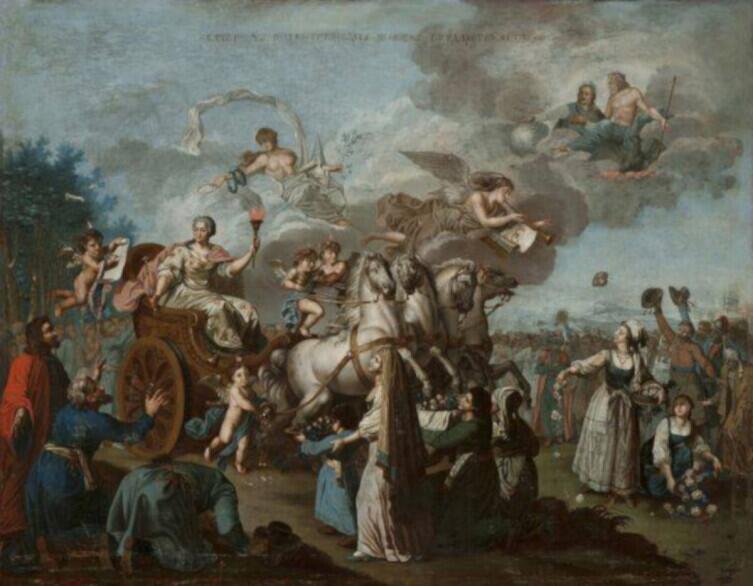 Аллегория «Путешествие ЕкатериныII по югу Российской империи в 1787 году», неизвестный художник конца XVIII века