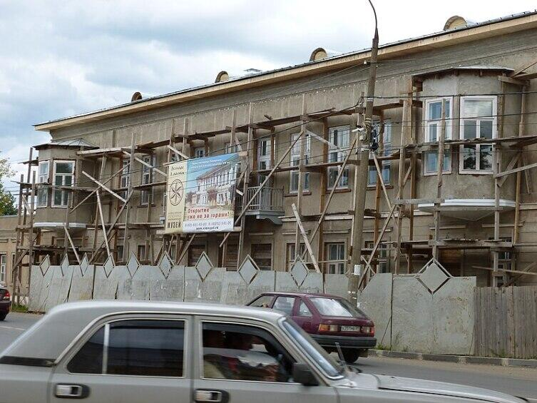 Гостиница Пожарских на реставрации