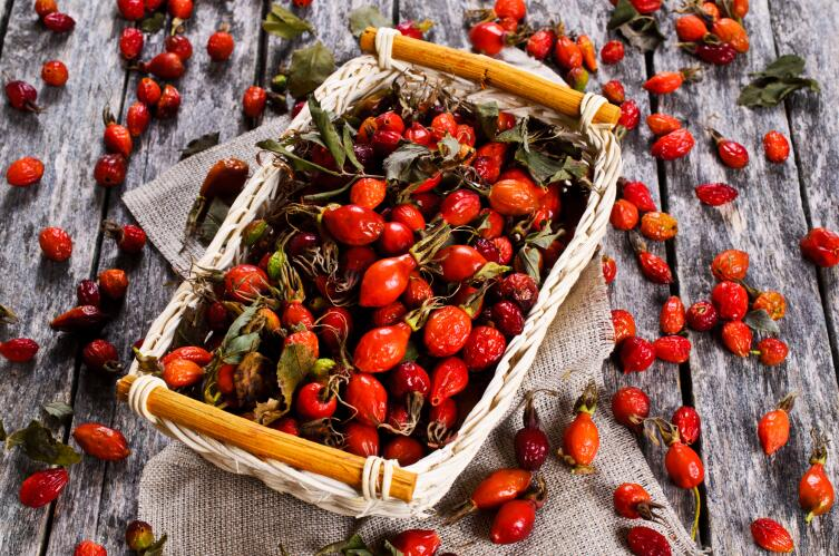 В плодах шиповника содержится 0,2 % витамина С