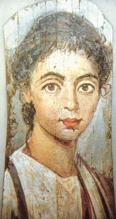 Портрет маленького мальчика, начало третьего века, Берлинское античное собрание