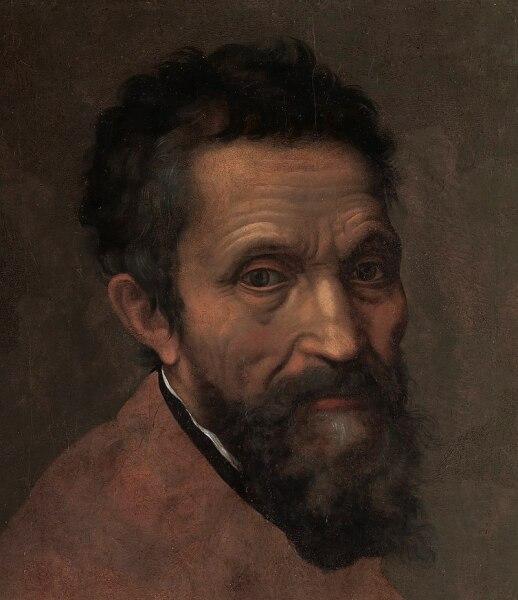 Микеланджело на портрете Даниэле да Вольтерра, ок. 1544 г.