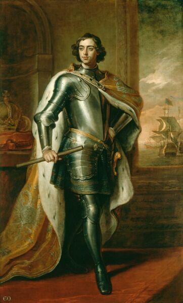 26-летний Пётр I. Портрет кисти Кнеллера был подарен Петром в 1698 английскому королю