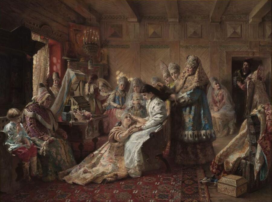 К. Маковский, «Под венец», 1887 г.