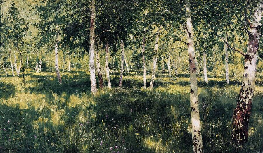 Исаак Левитан, «Березовая роща», 1885-1889
