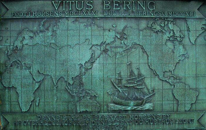 Карта плаваний В. Беринга