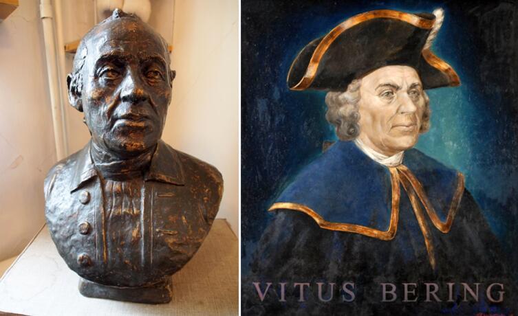 Бюст и портрет В. Беринга