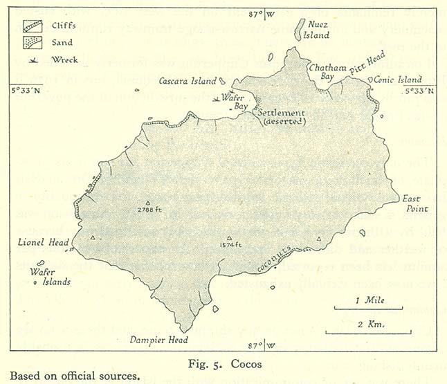 Карта острова Кокос