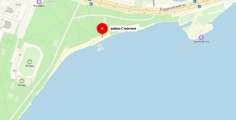 Пляж Строгинского затона