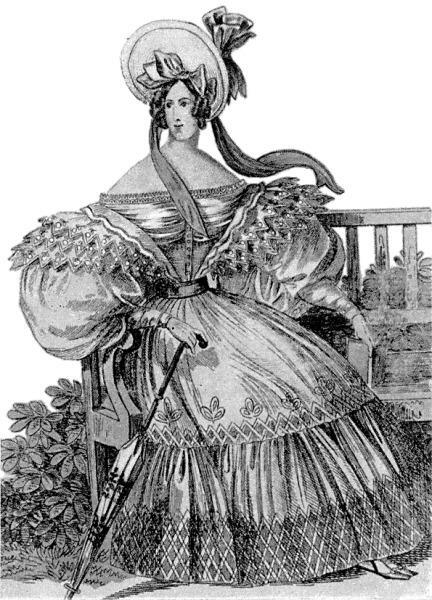 Модный силуэт из журнала Wiener Moden, 1832 г.