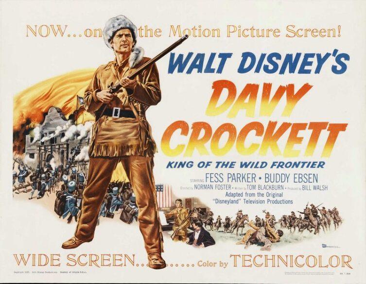 Постер фильма «Дэви Крокетт»