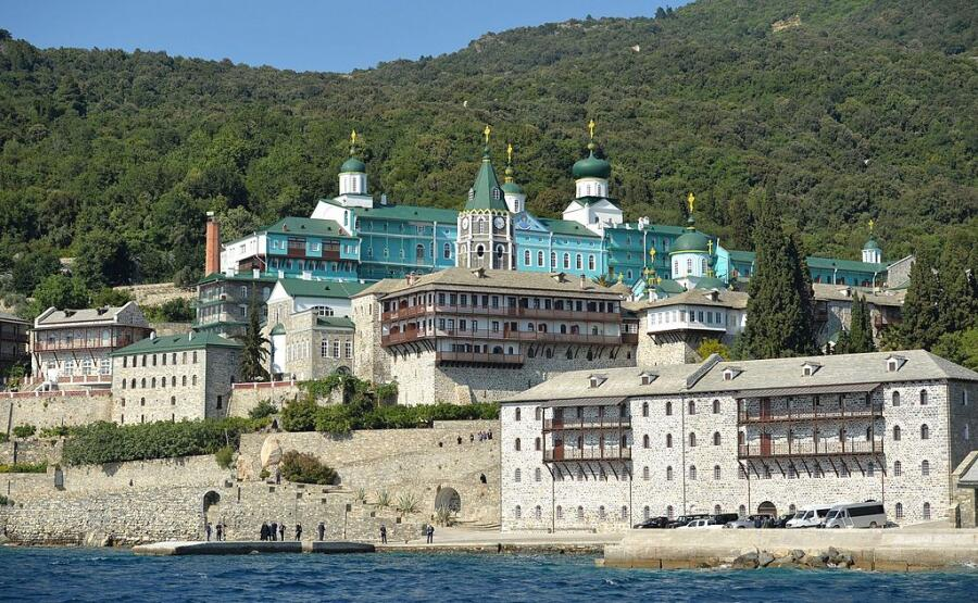 Монастырь Святого Пантелеймона на Афоне в Греции