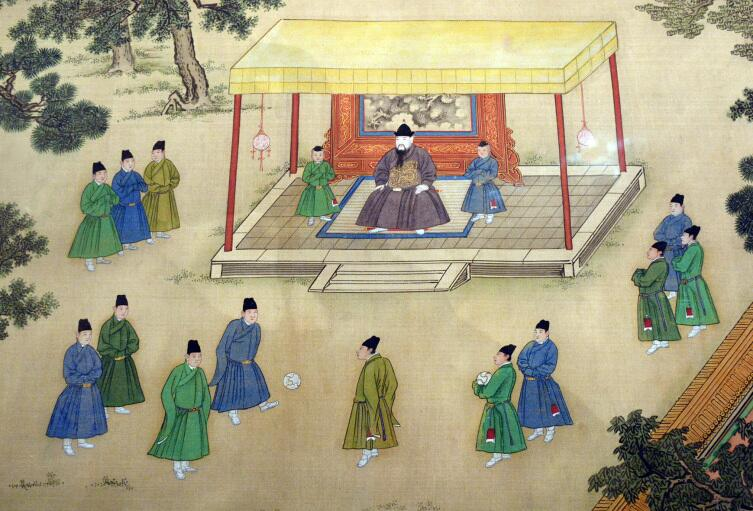 Игра в Чжу-Кэ - китайский футбол