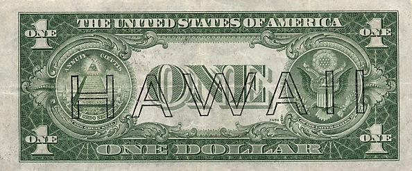 Надпечатка Гавайи на случай оккупации островов Японией. 1942 г.
