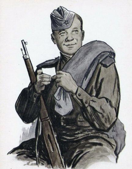 Василий Теркин, иллюстрация к книге