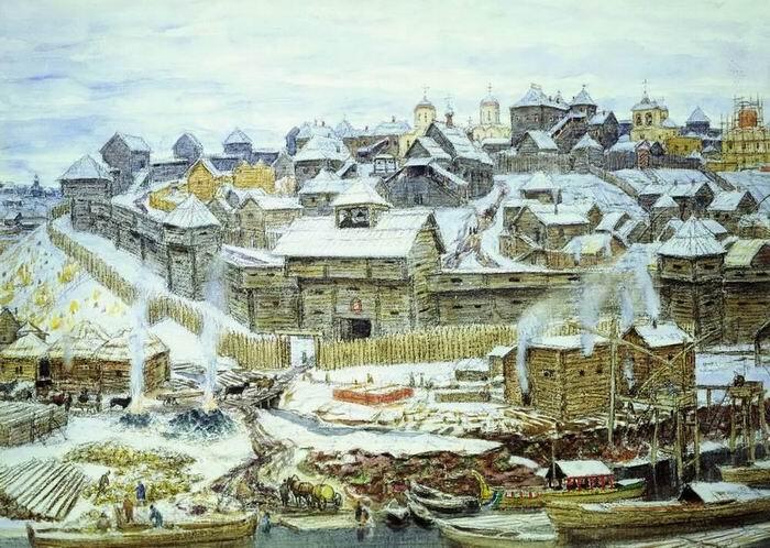 А. М. Васнецов, «Московский Кремль при Иване Калите», 1921 г.