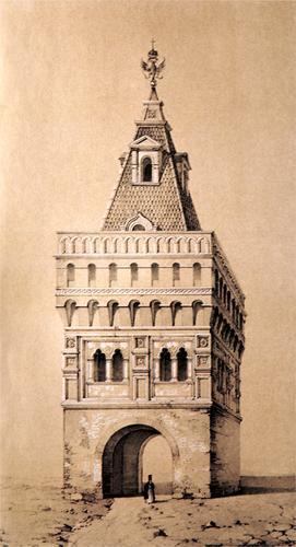 Гербовая башня, рисунок начала XIX века