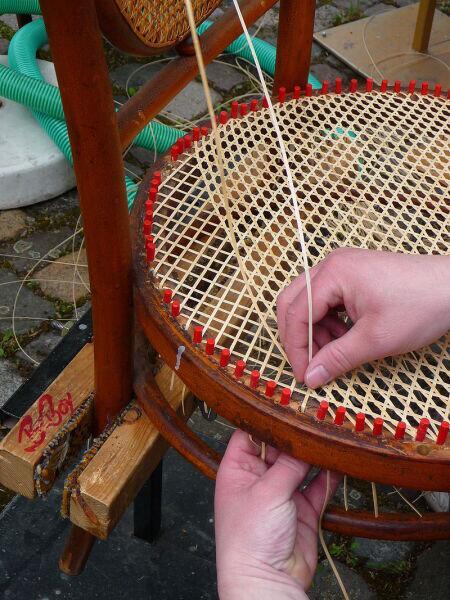 Изготовление стула из ротанга