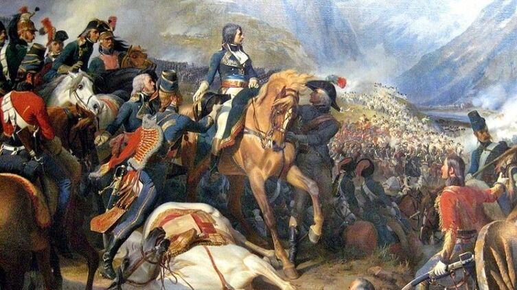 Ф. Филиппото, «Бонапарт в битве при Риволи»