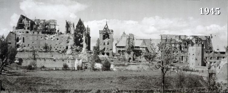 Мариенбург в 1945 г.