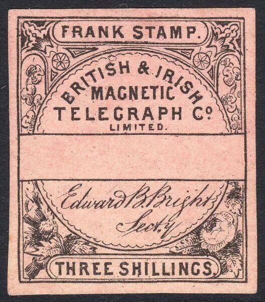 Телеграфная марка British & Irish Magnetic Telegraph Co. Limited, ок. 1862 г.