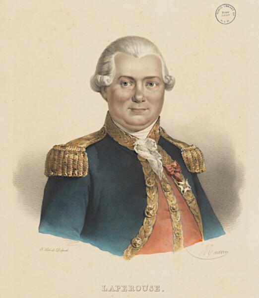 Жан-Франсуа Лаперуз, литография 1835 г.