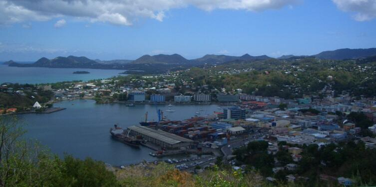 Кастри, столица островного государства Сент-Люсия