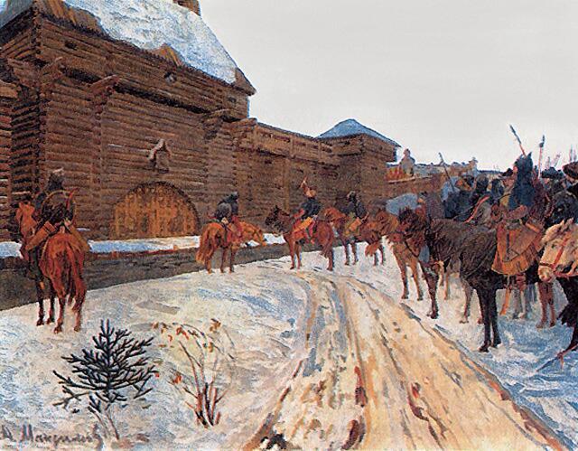 В. Максимов, «Монголы у стен Владимира»
