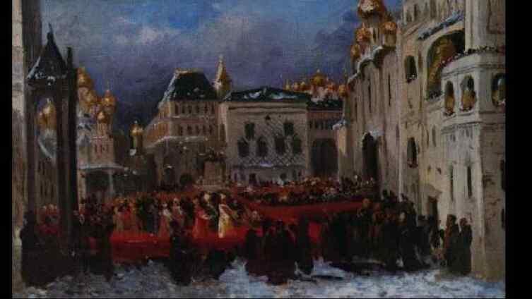 Соборная площадь во времена Годунова