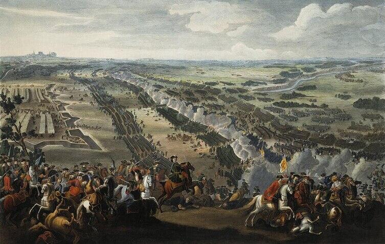 Денис Мартен, «Полтавская битва», 1726 г.