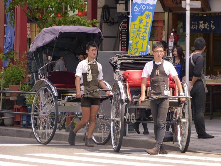 Рикши в Токио