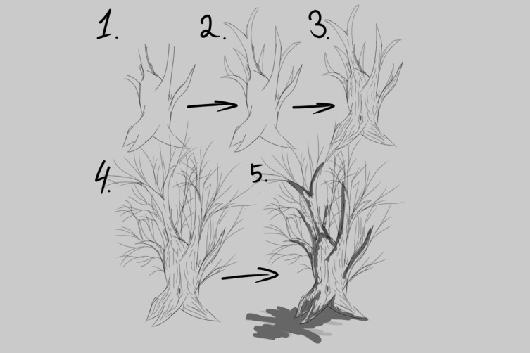 Как правильно рисовать дерево?