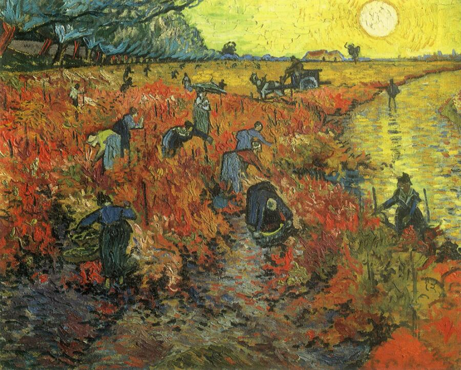 Винсент Ван Гог, «Красные виноградники в Арле. Монмажур», 1888 г.