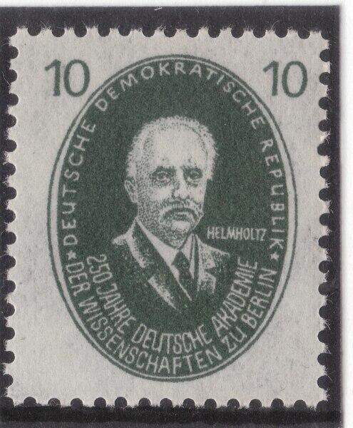 Г. Гельмгольц на почтовой марке ГДР, посвящённой 250-летию Немецкой академии наук, 1950 г.