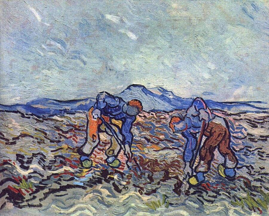 Винсент Ван Гог, «Фермеры, убирающие картофель», 1890 г.