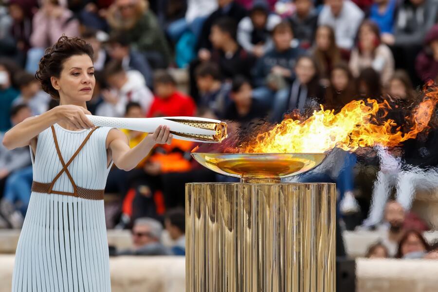 Церемония олимпийского пламени на зимних Олимпийских играх