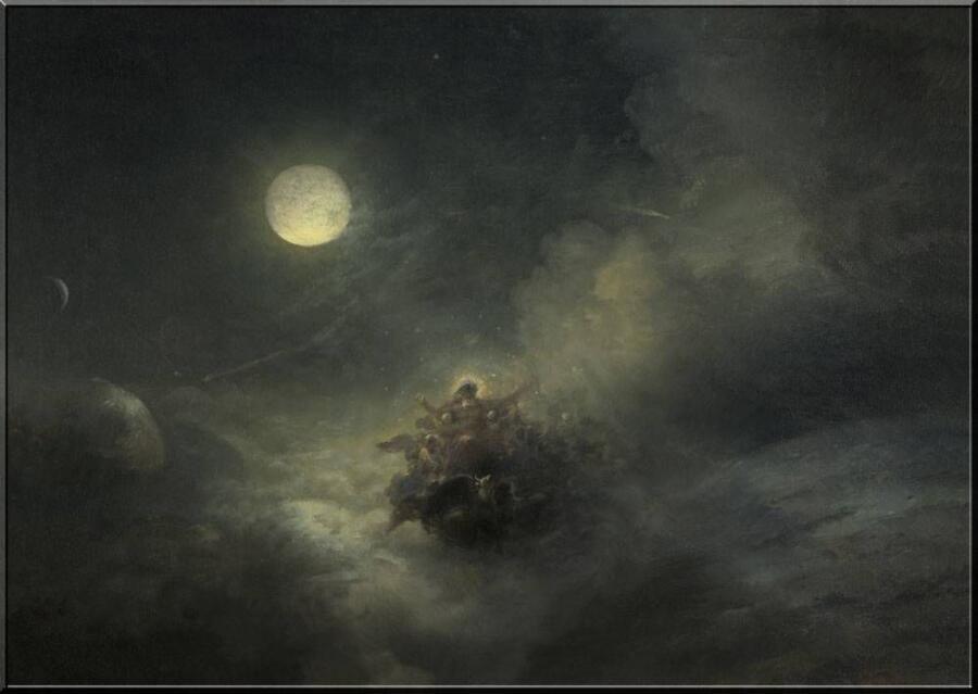 И. К. Айвазовский, «Сотворение мира. Хаос» (кусок), 1889 г.
