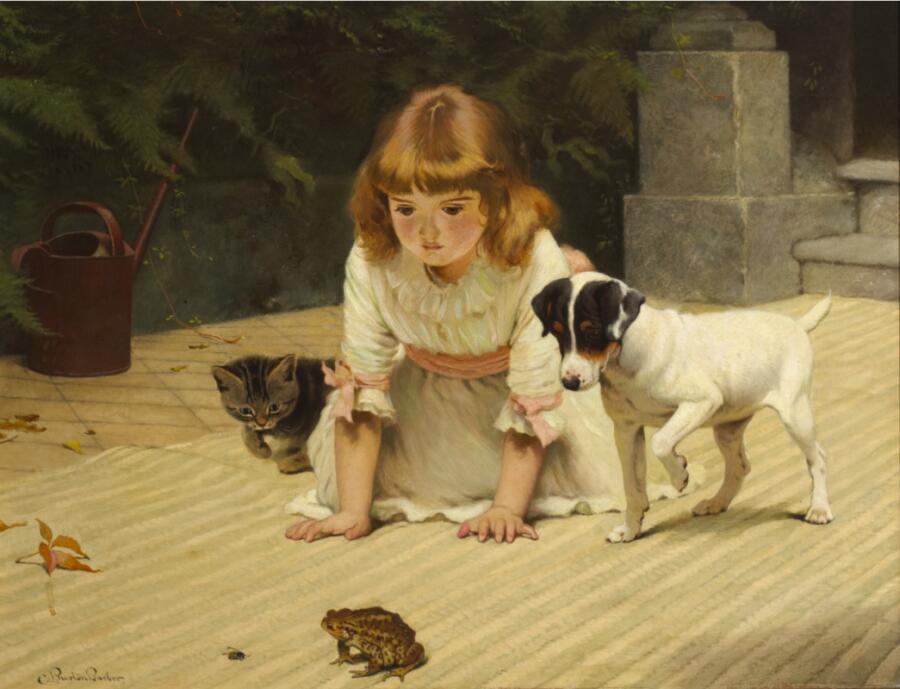 Чарльз Бертон Барбер, «Любопытство», 1880-е гг.