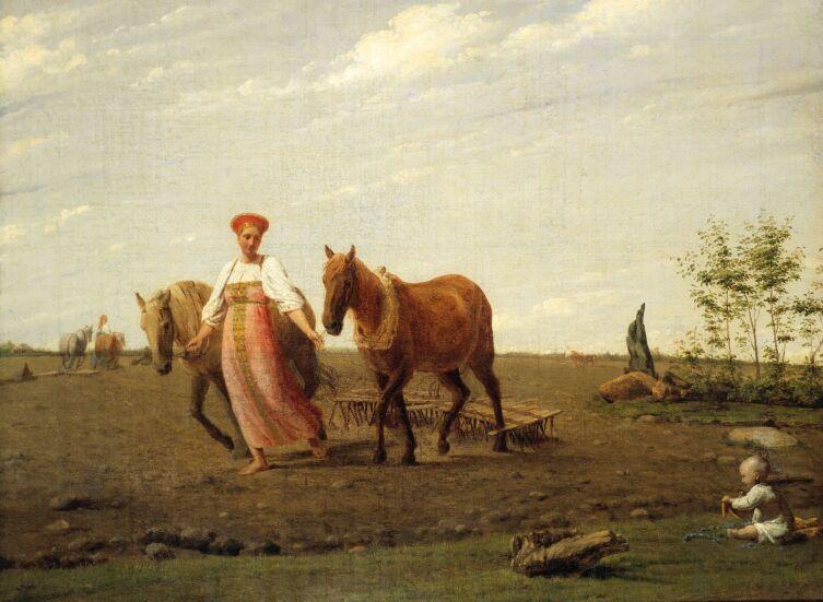 А. Г. Венецианов, «На пашне. Весна», 1820-е гг.