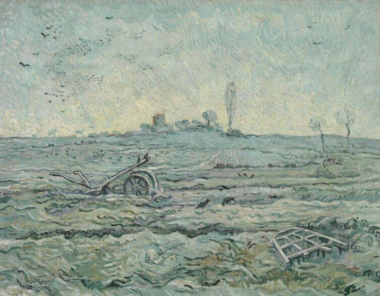 Винсент Ван Гог, «Заснеженное поле с плугом (по мотивам Милле)» 1890 г.