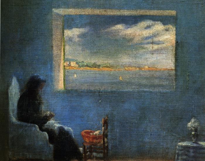 Сальвадор Дали, «Портрет бабушки Аны за шитьем», 1921 г.